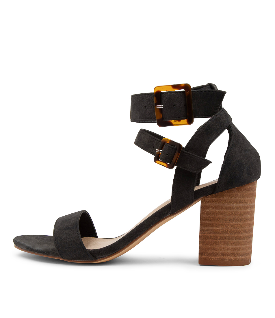 Buy Therapy Elowen Th Black Heeled Sandals online with free shipping