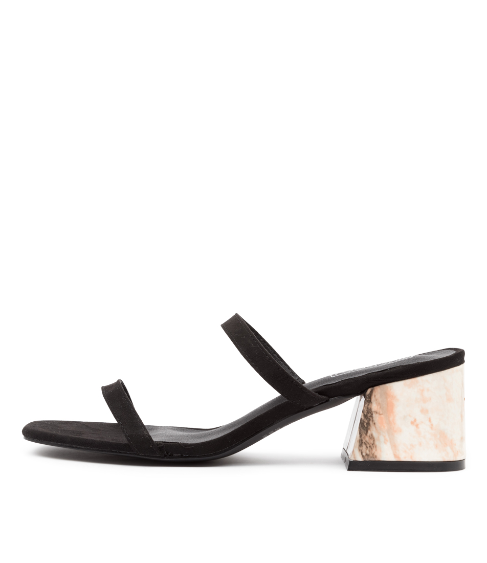 Buy Therapy Goldie Marble Th Black Heeled Sandals online with free shipping