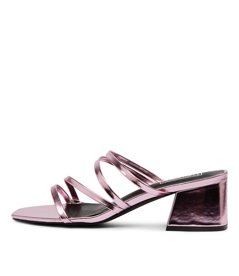 Buy Therapy Bossy Th Pink Metallic Heeled Sandals online with free shipping