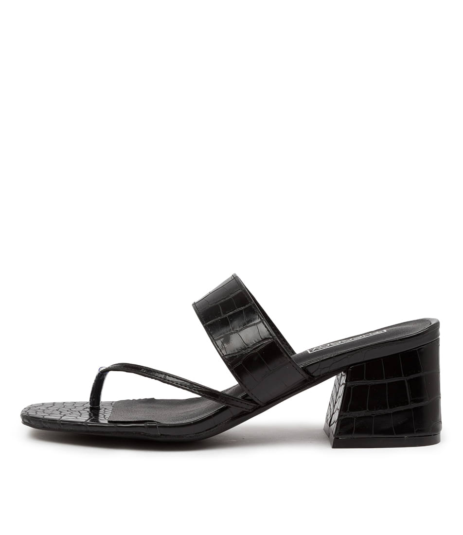 Buy Therapy Buggin Th Black Heeled Sandals online with free shipping