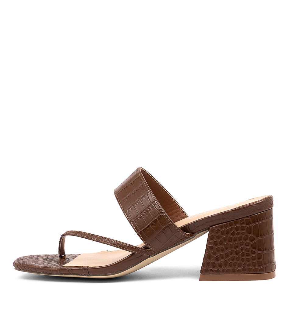Buy Therapy Buggin Th Choc Heeled Sandals online with free shipping