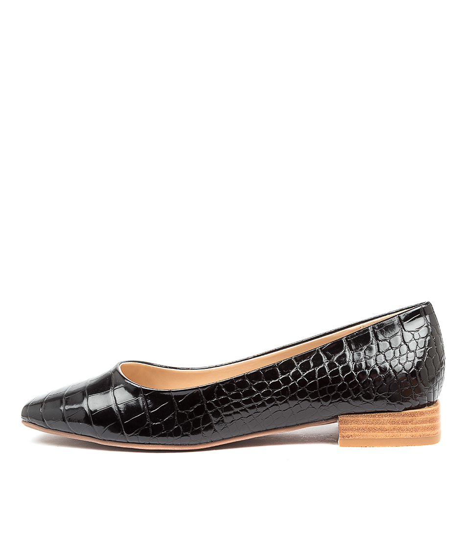 Buy Therapy Posh Th Black Flats online with free shipping