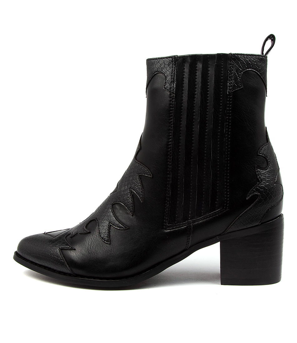 Buy Therapy Tess Th Black Ankle Boots online with free shipping