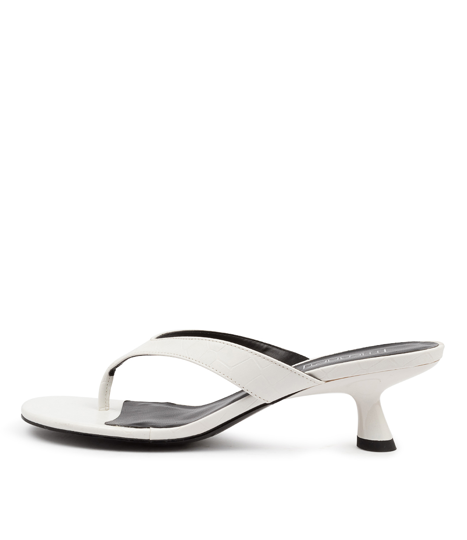 Buy Therapy Mici Th White Croc Heeled Sandals online with free shipping