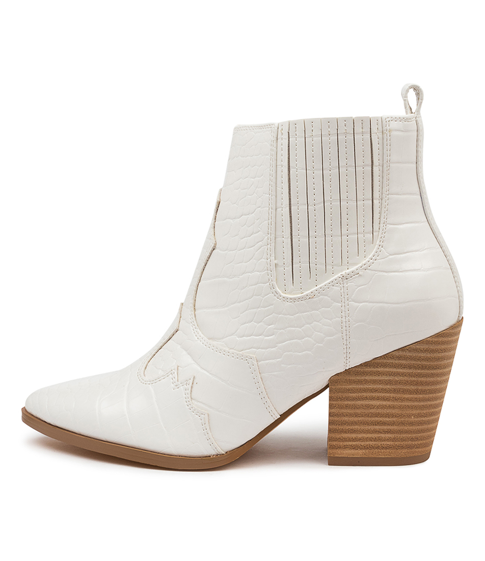 Buy Therapy Carson Th White Croc Ankle Boots online with free shipping