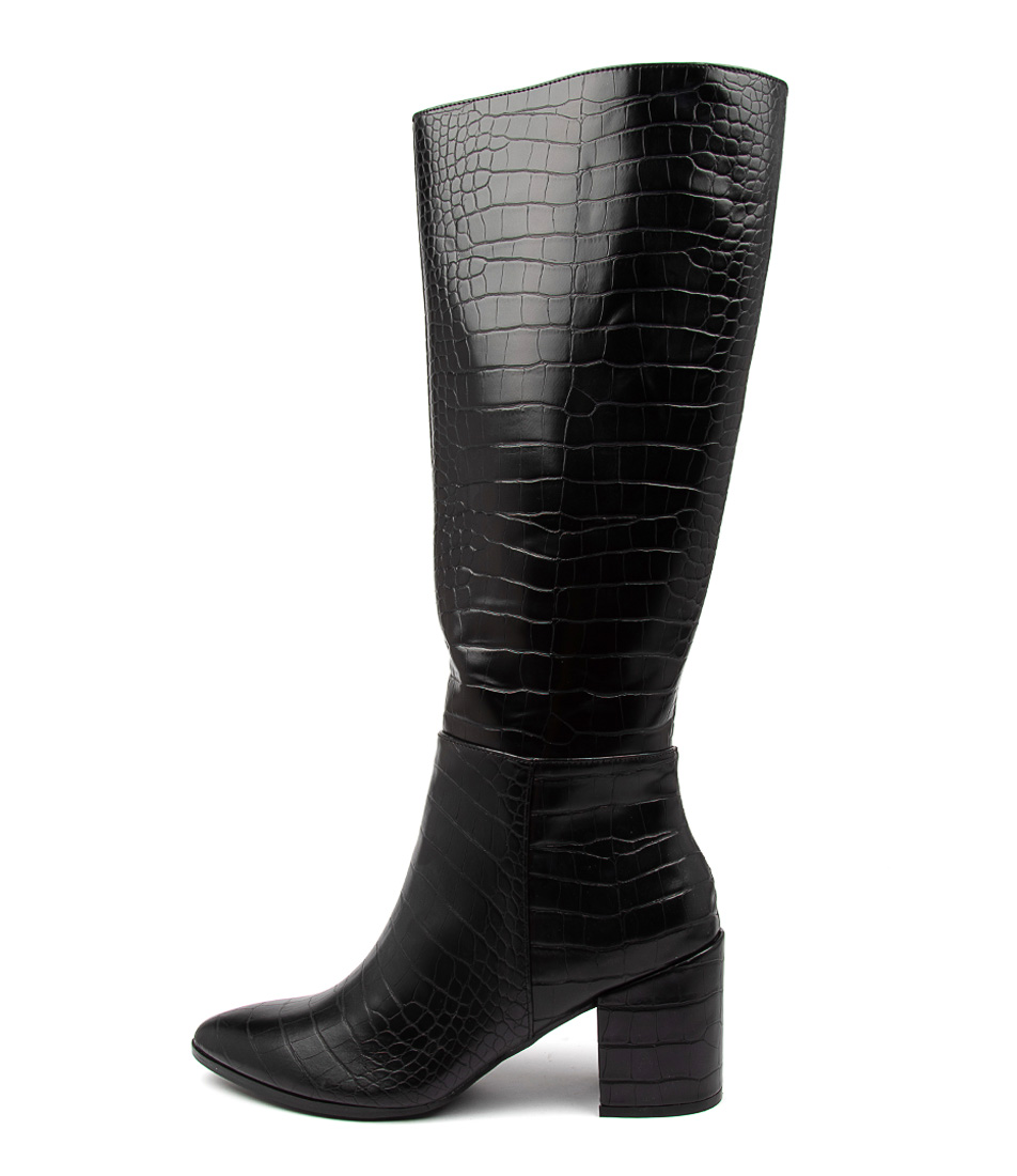 Buy Therapy Julia Th Black Croc Long Boots online with free shipping