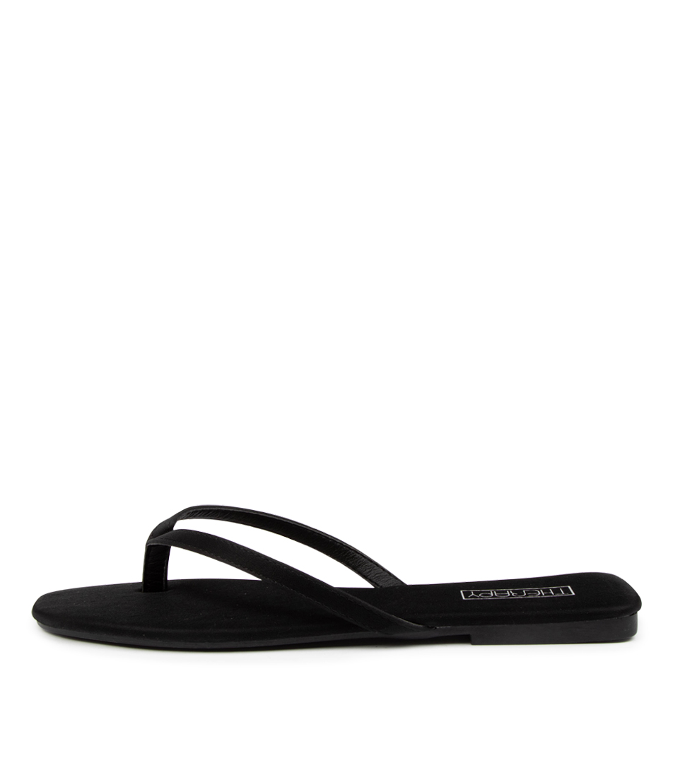 Buy Therapy Siena Th Black Flat Sandals online with free shipping