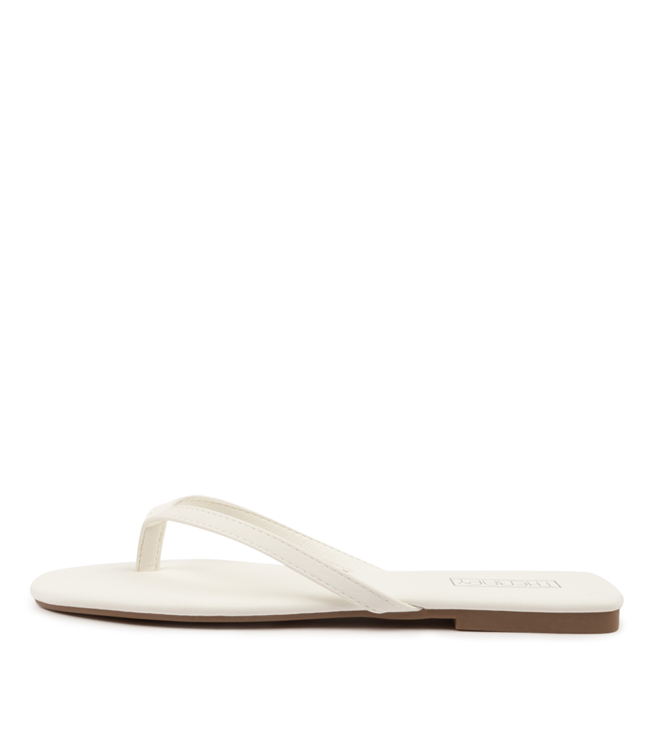Buy Therapy Siena Th White Flat Sandals online with free shipping