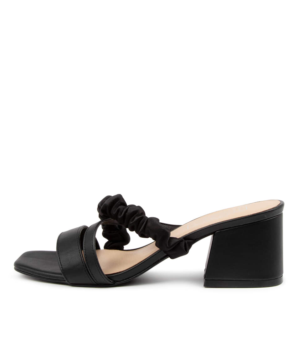 Buy Therapy Potenza Th Black Heeled Sandals online with free shipping