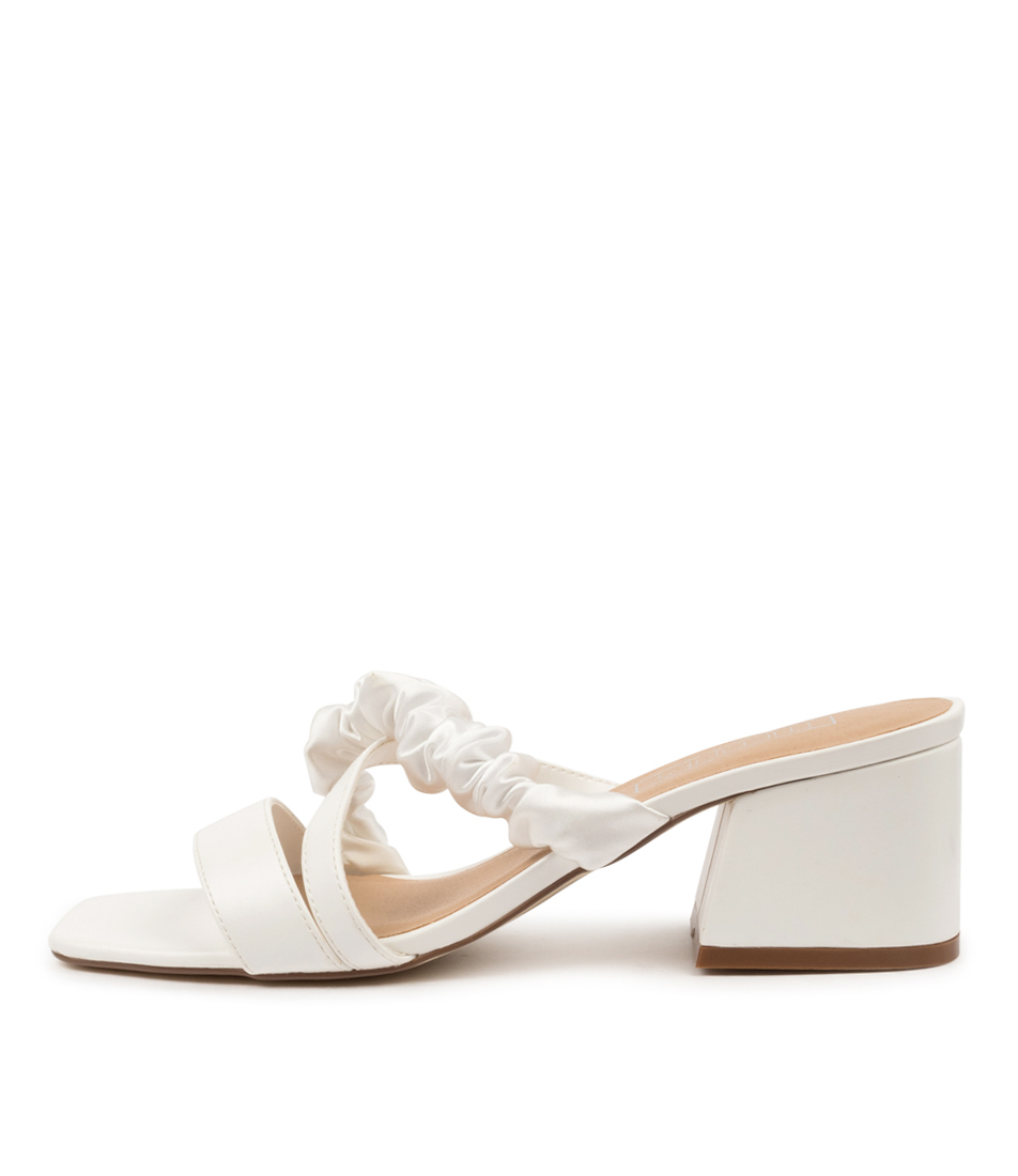 Buy Therapy Potenza Th White Heeled Sandals online with free shipping