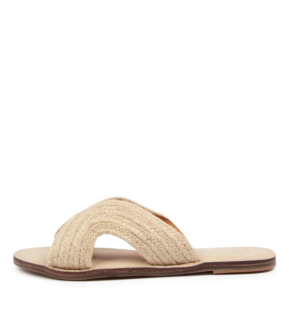 Buy Therapy Monzi Th Natural Flat Sandals online with free shipping