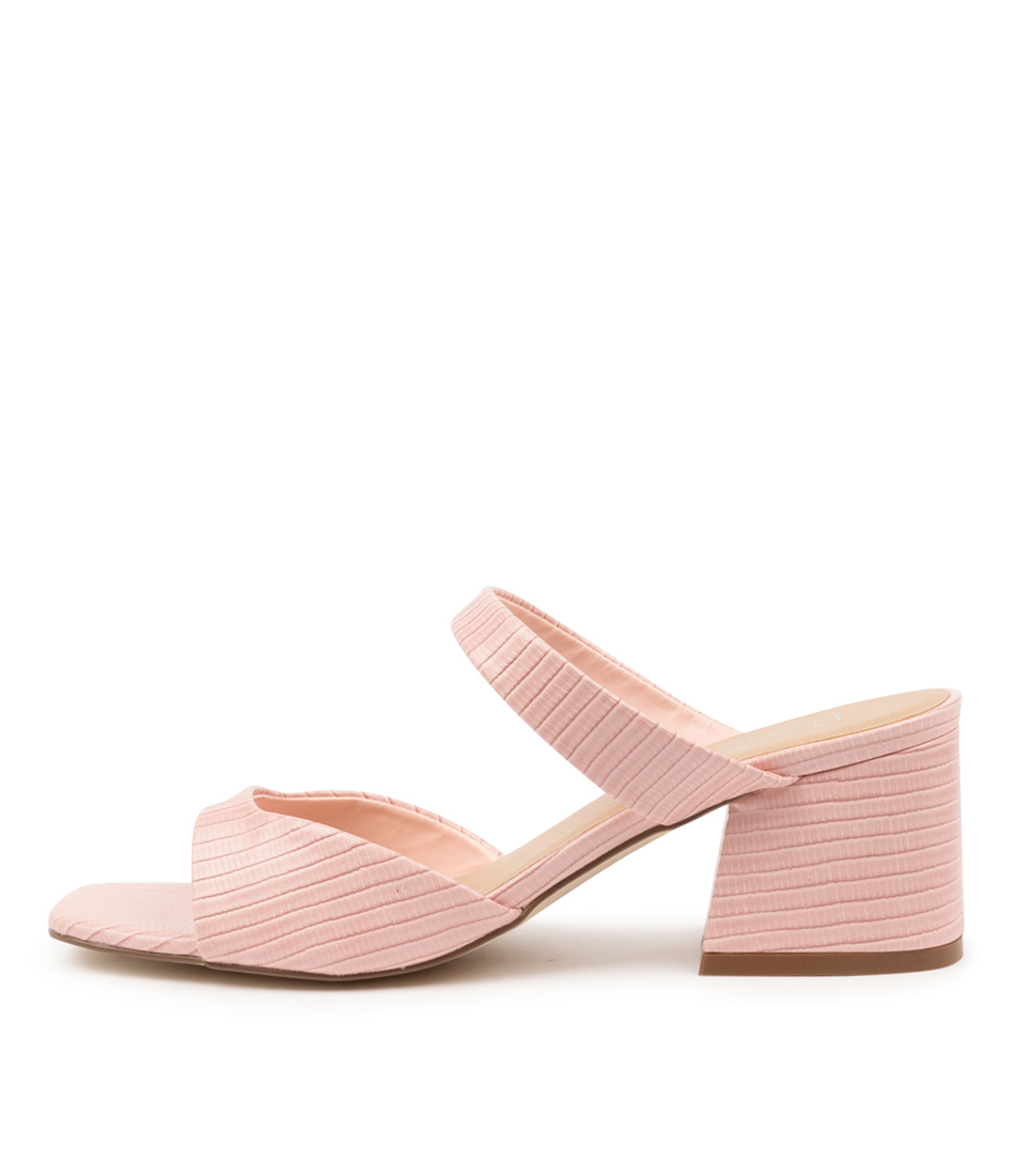 Buy Therapy Lupin Th Pastel Pink Lizard Heeled Sandals online with free shipping