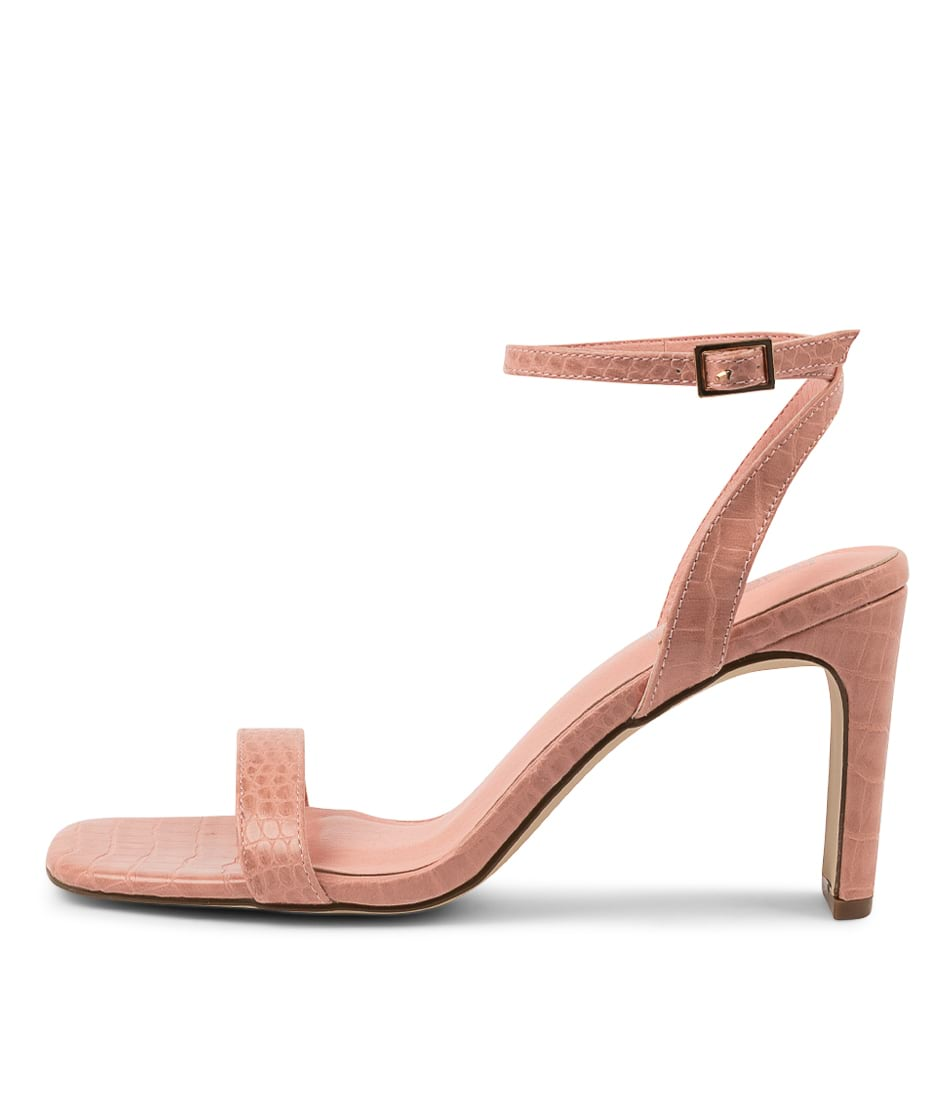 Buy Therapy Lantana Th Pastel Pink Croc Heeled Sandals online with free shipping