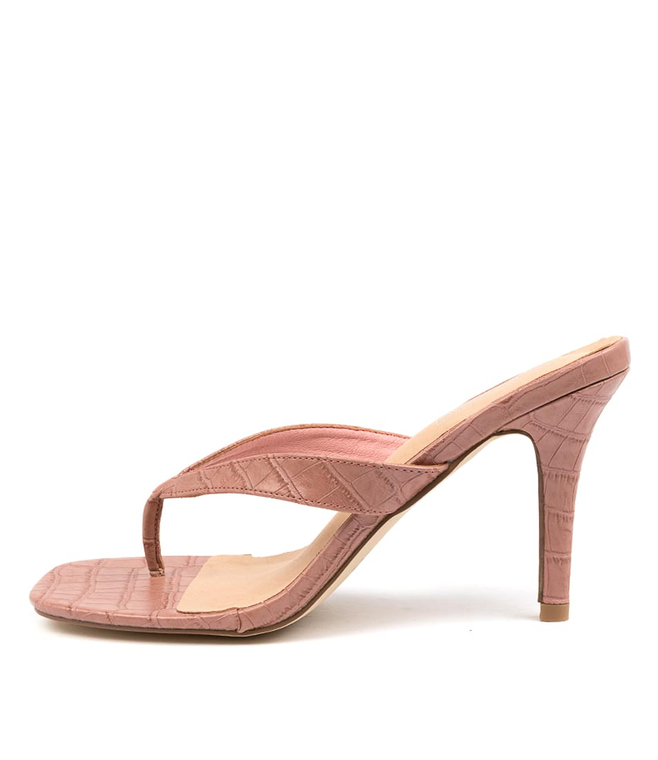 Buy Therapy Mira Th Pink Croc Heeled Sandals online with free shipping