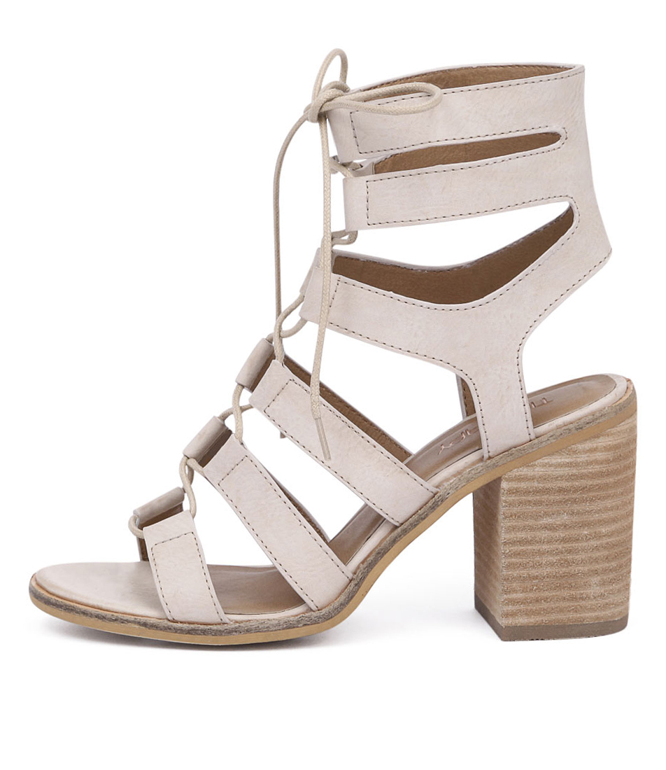 Therapy Thorin Beige Dress Heeled Sandals