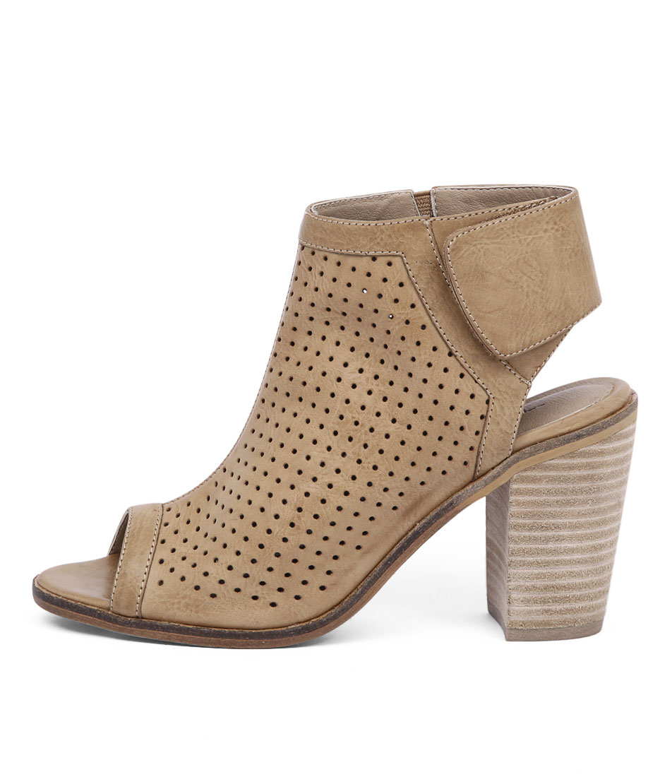 Therapy Bailey Perforated Tan Sandals
