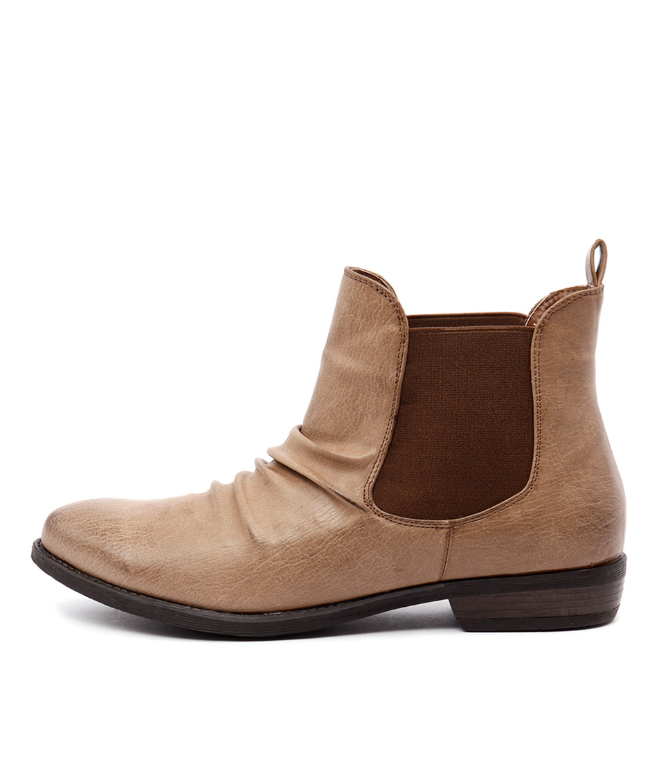 Therapy Redwood Camel Casual Ankle Boots