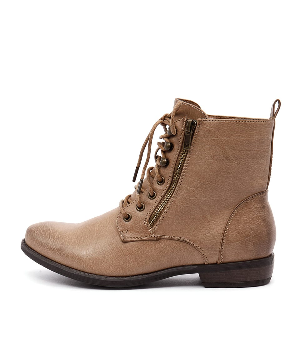 Therapy Geronimo Camel Casual Ankle Boots