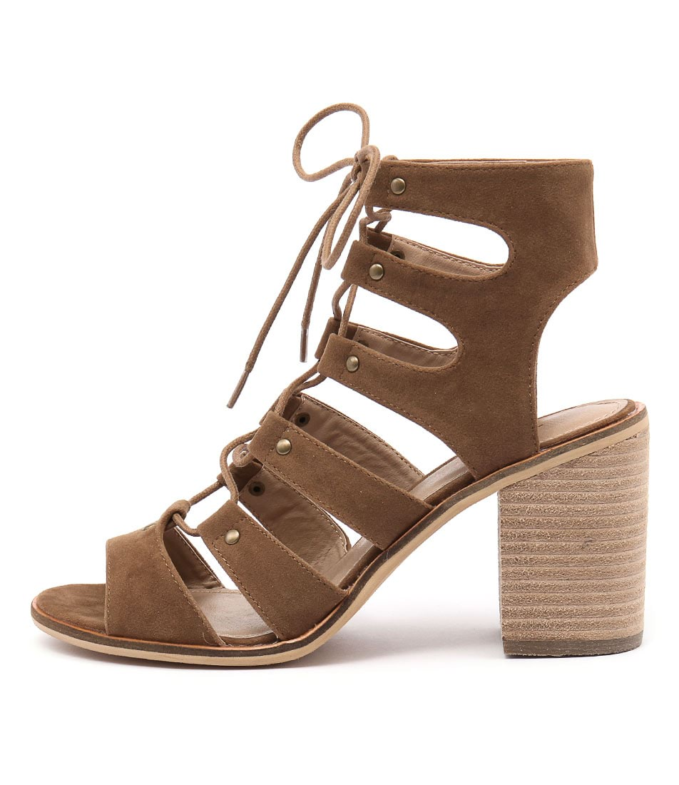 Therapy Newport Tan Casual Heeled Sandals