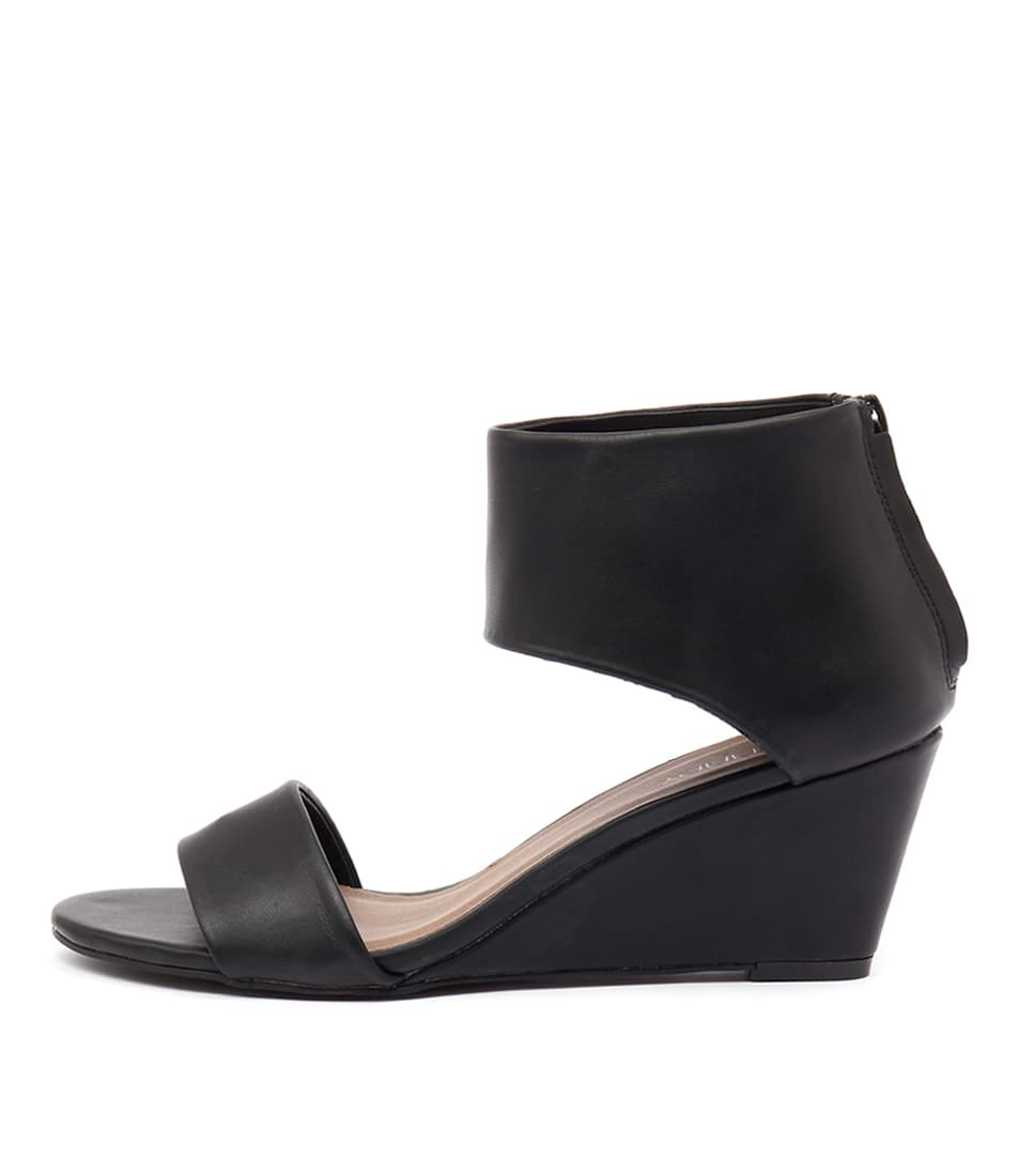 Therapy Daws Black Casual Heeled Sandals