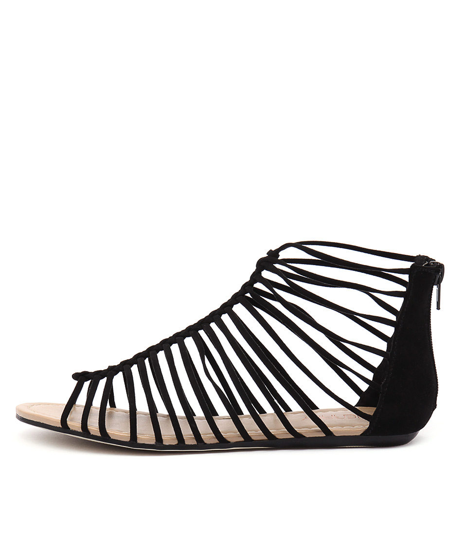 Therapy Mimosa Th Black Casual Flat Sandals