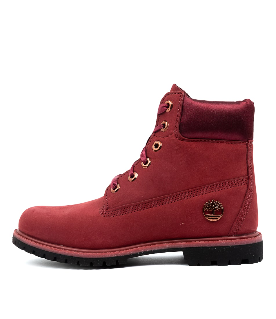 Buy Timberland 6 Premium Icon Burgundy Ankle Boots online with free shipping