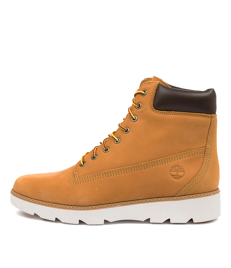 Buy Timberland Keeley Field 6 Inch Lace Up Tm Wheat Ankle Boots online with free shipping