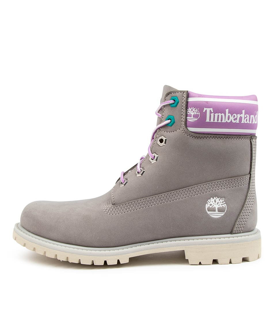 Buy Timberland 6 In Prem Boot L/F Womens Tm Grey Ankle Boots online with free shipping