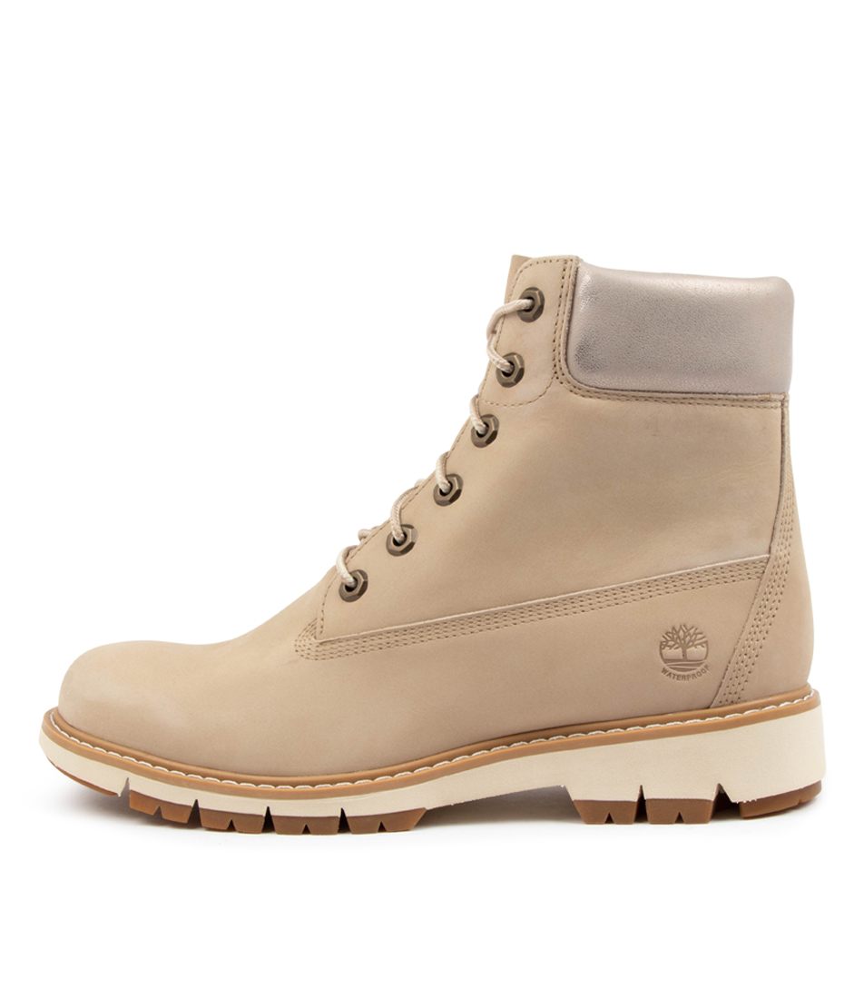Buy Timberland Lucia Way Tm Light Beige Ankle Boots online with free shipping