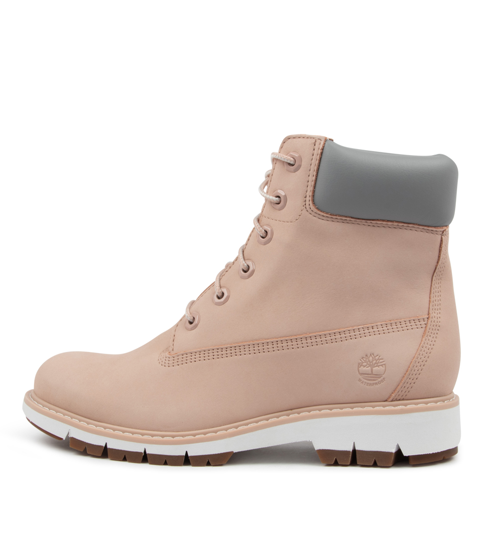 Buy Timberland Lucia Way Tm Light Pink Ankle Boots online with free shipping
