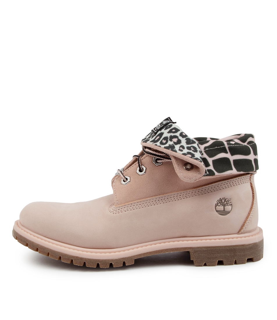 Buy Timberland Roll Top Boot Tm Lt Pink Croc Ankle Boots online with free shipping