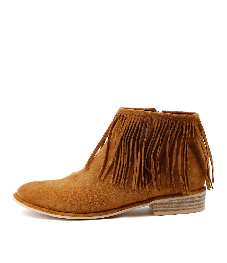Top End Leeza Tan Ankle Boots