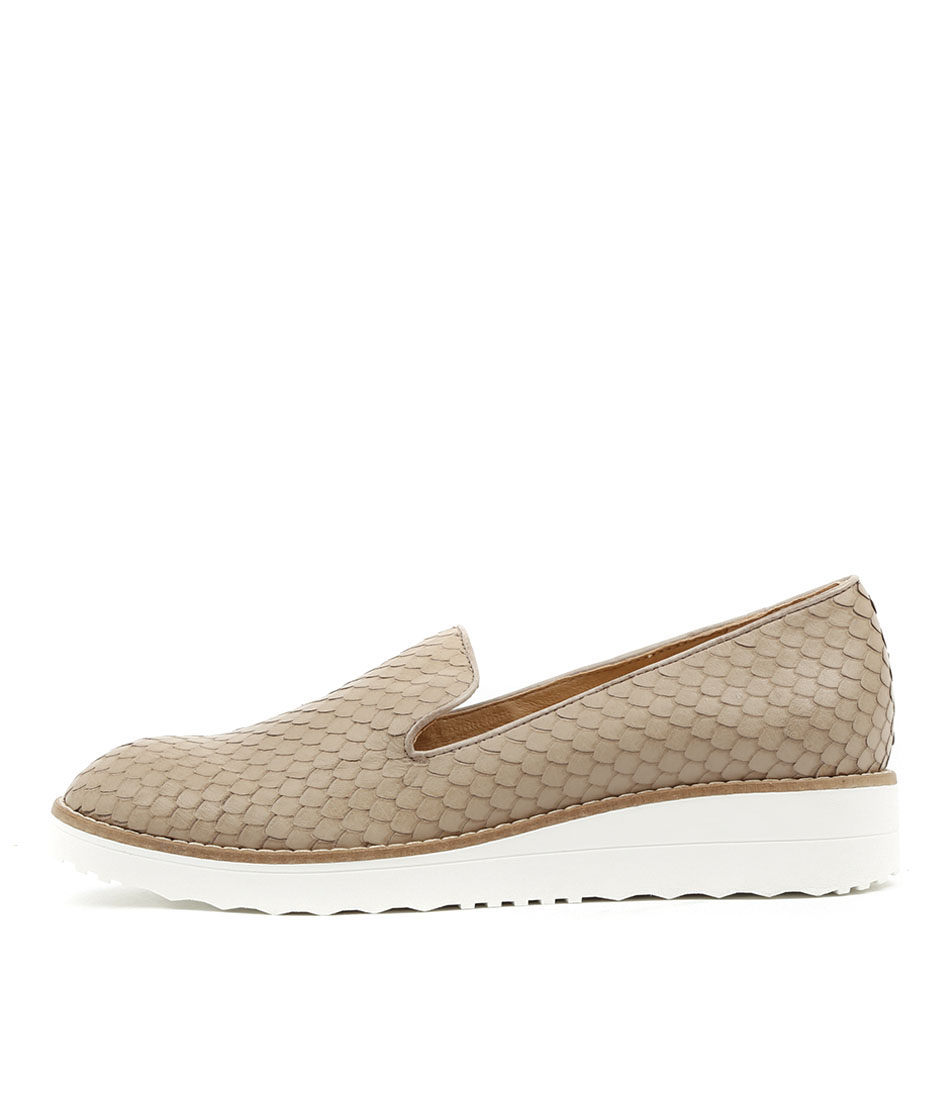 Top End Olus Taupe Flat Shoes
