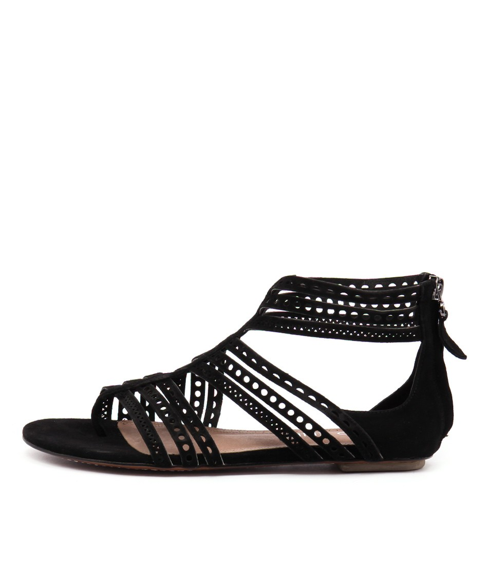 Top End Puss Black Sandals Flat Sandals