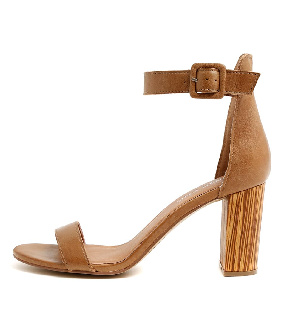 Top End Tebez Tan Heeled Sandals