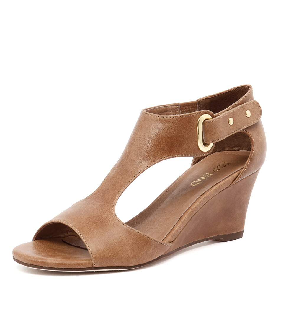 New Top End Unico Tan Womens Shoes Casual Sandals Heeled