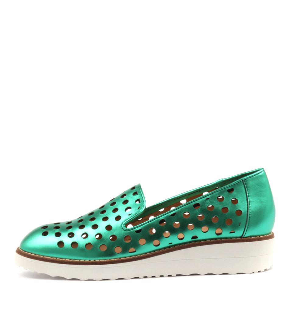 Top End Oslo Emerald Metallic Flat Shoes