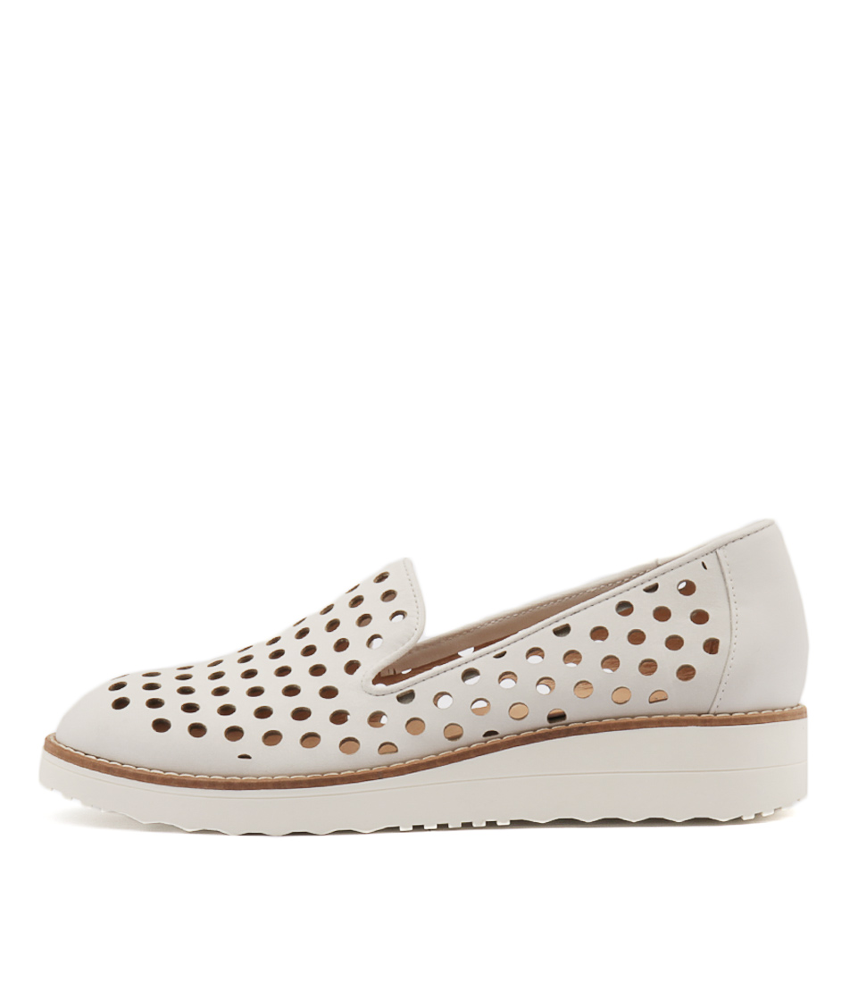 Top End Oslo White Flat Shoes