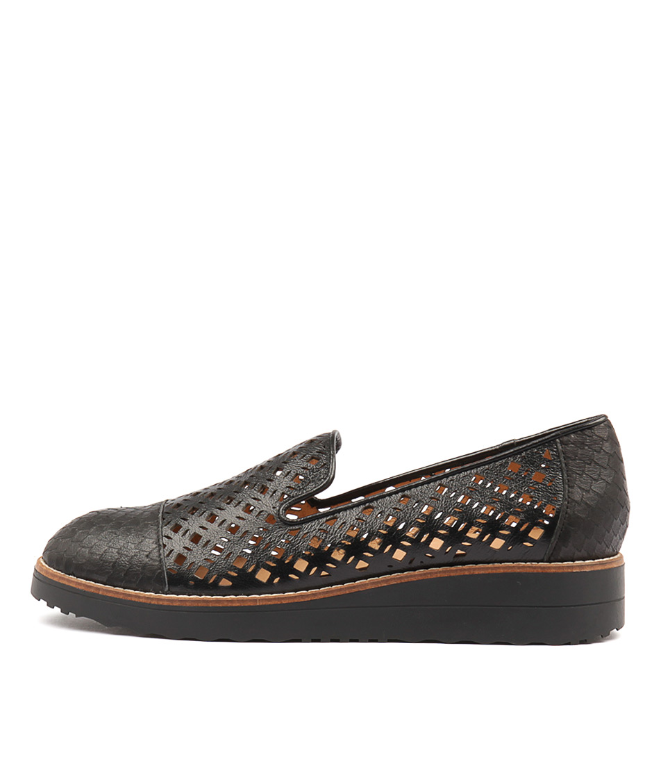 Top End Oleno Black Flat Shoes
