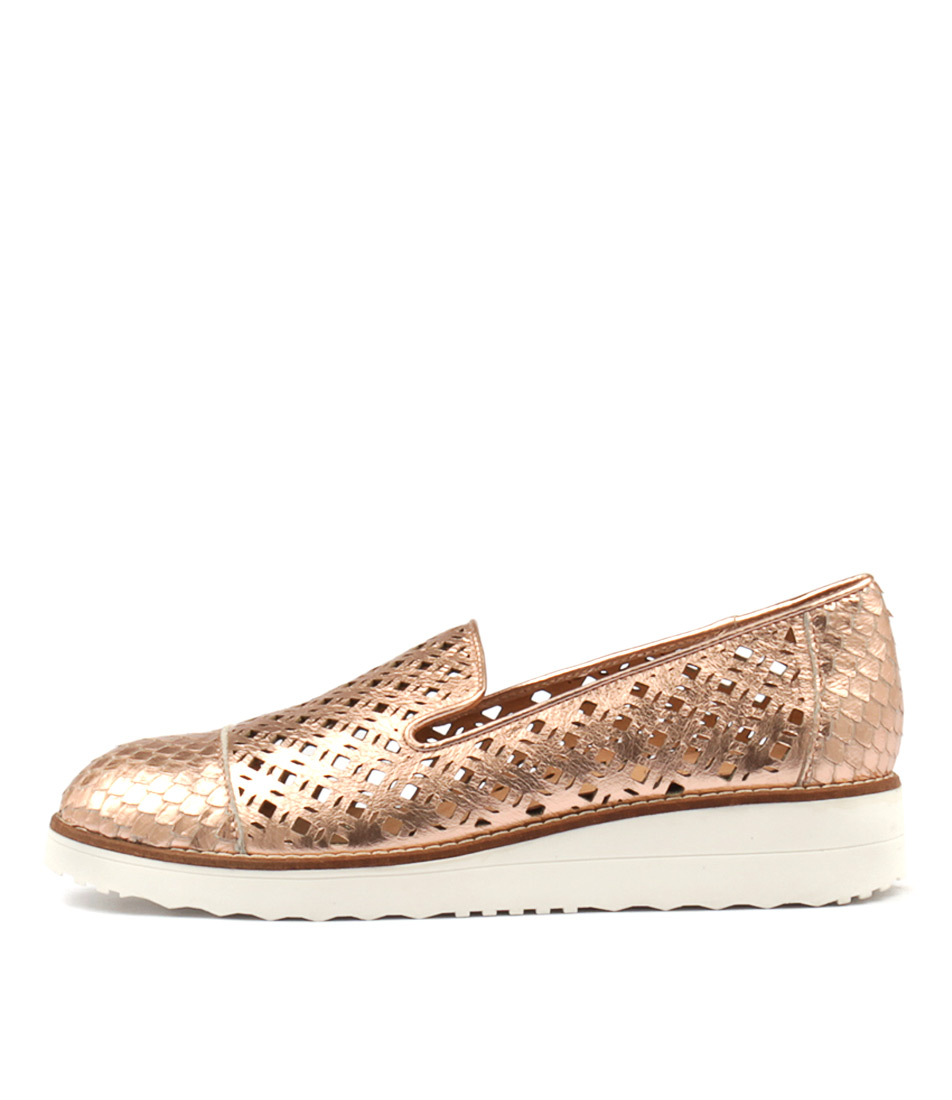 Top End Oleno Rose Gold Rose Gold Smoke Flat Shoes