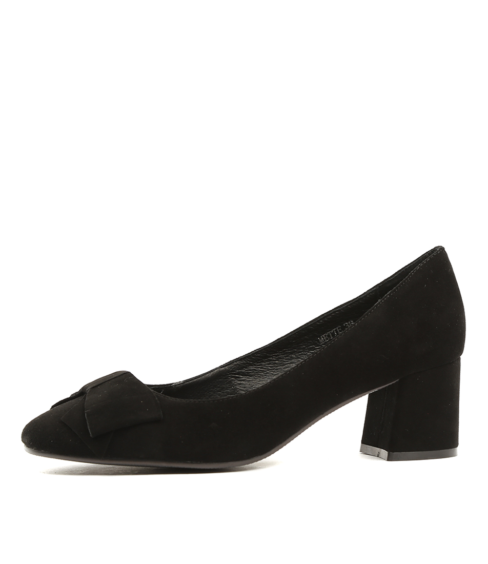 Top End Mette Black Heeled Shoes