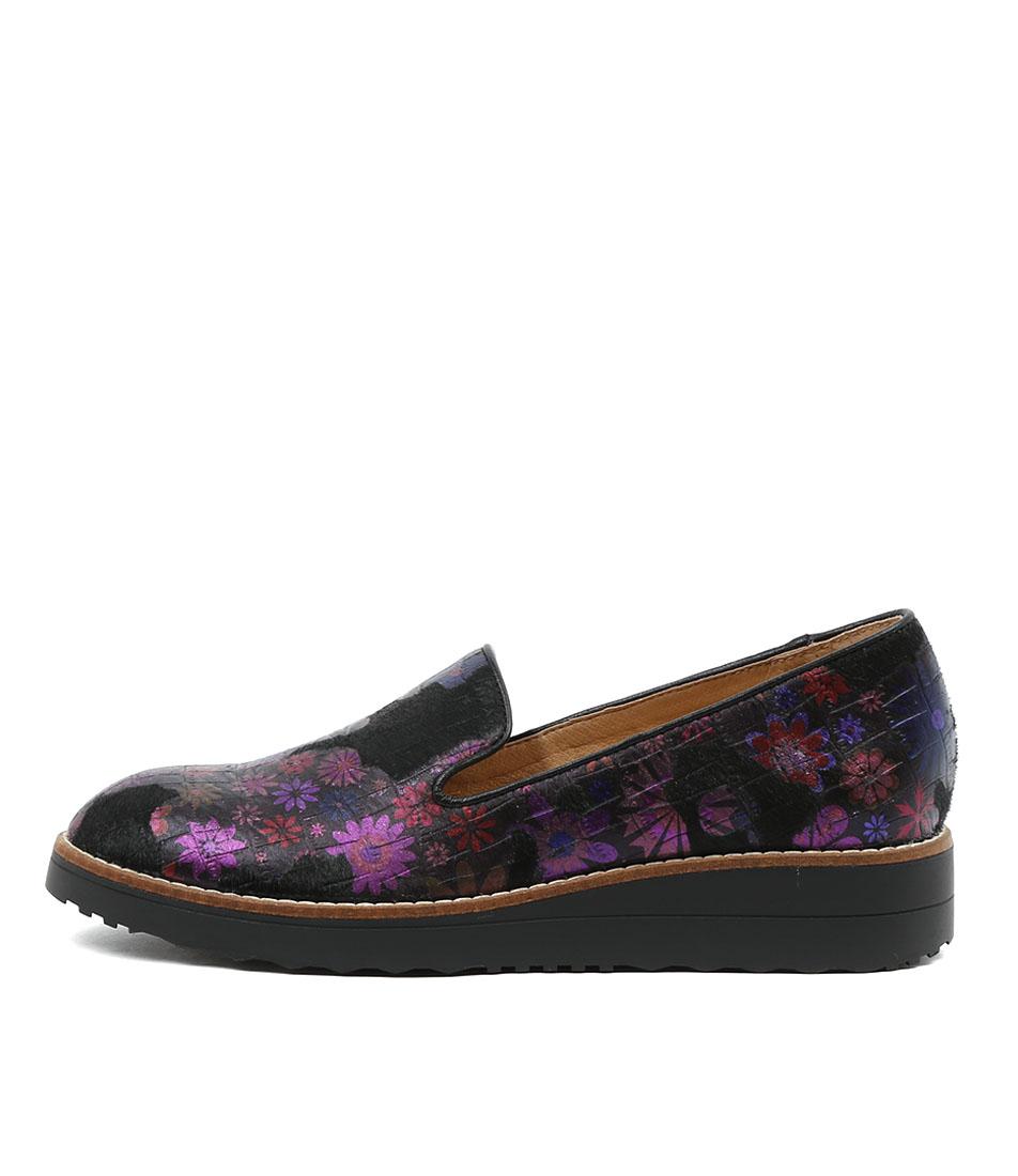 Top End Olussy Black Multi Metallic Flat Shoes