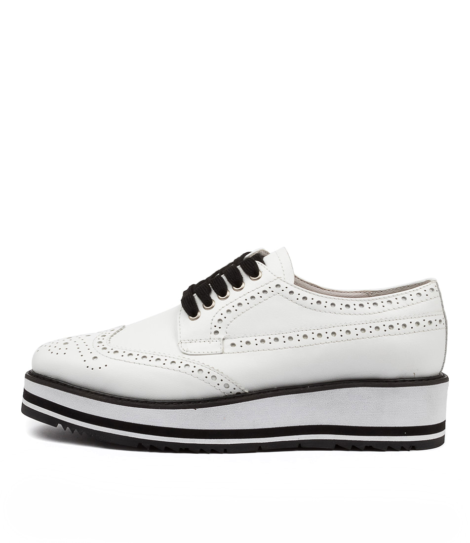 Buy Top End Sansi White Flats online with free shipping