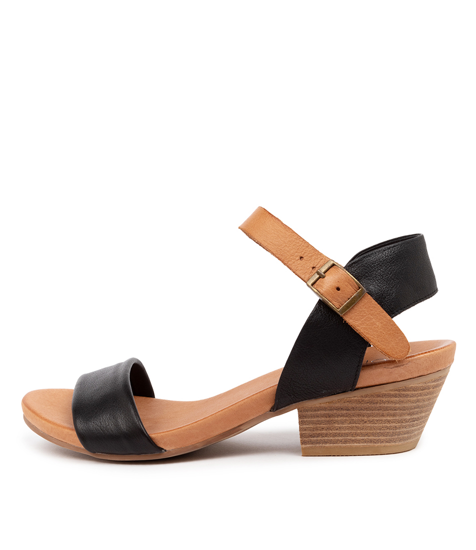 Buy Top End Control Black Dk Tan Heeled Sandals online with free shipping