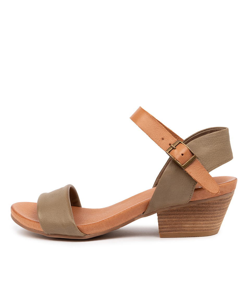 Buy Top End Control Dk Khaki Dk Tan Heeled Sandals online with free shipping