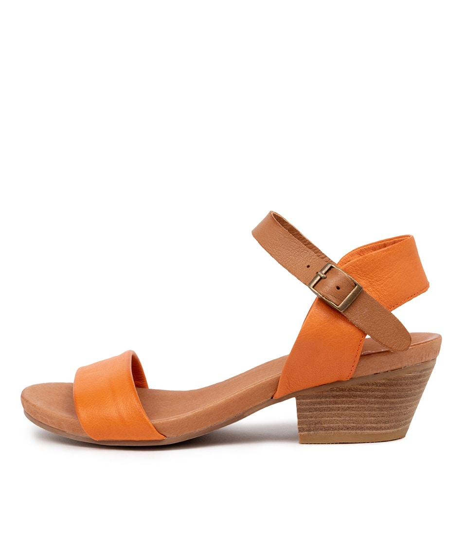 Buy Top End Control Burnt Orange Dk Tan Heeled Sandals online with free shipping