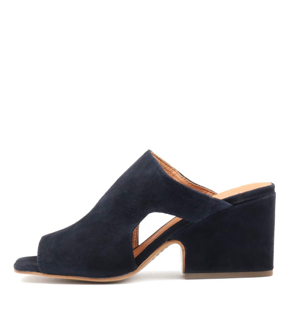 Top End Allspice Navy Heeled Sandals