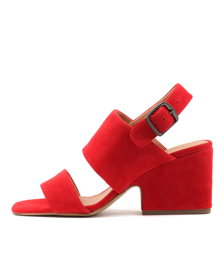 Top End Aretha Red Heeled Sandals