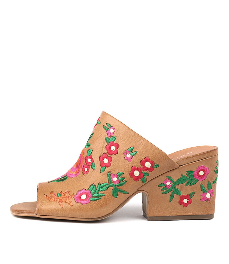Top End Barnett Dk Tan Bright E Heeled Sandals