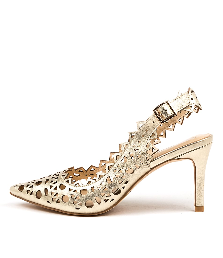Buy Top End Beckets Pale Gold High Heels online with free shipping